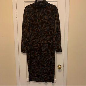 Zara tiger print dress